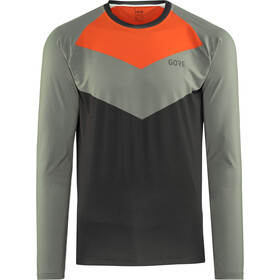 GORE WEAR C5 Trail Maillot manga larga Hombre, terra grey/orange